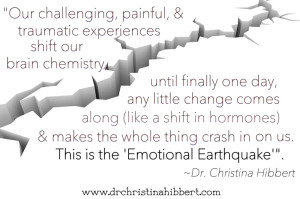 Women's Emotions, Part 2: The Emotional Earthquake, www.drchristinahibbert.com