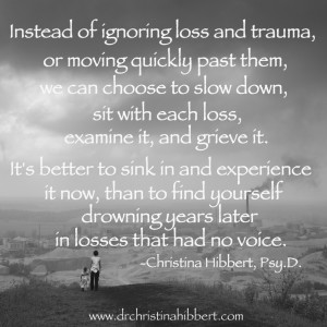 Understanding & Coping with Loss and Trauma, www.drchristinahibbert.com