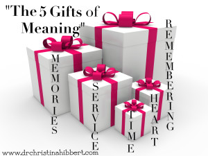 """The 5 Gifts of Meaning,"" via www.drchristinahibbert.com"