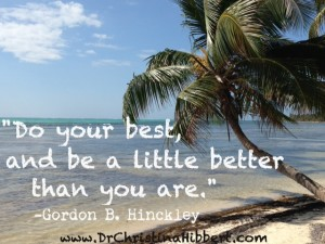 Summer Self-Improvement--25 Inspirational Ideas; www.DrChristinaHibbert.com