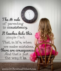 Parenting Success Skills Top 10-#2 The #1 Rule of Parenting--Consistency; www.DrChristinaHibbert.com