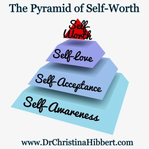 "How to Feel Self-Worth: ""The Pyramid of Self-Worth"" [w/ #video]; www.DrChristinaHibbert.com"