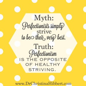 """Perfect?"" or ""Fake?"": 8 Myths of Perfectionism, & 8 Truths to Cure It; www.DrChristinaHibbert.com"