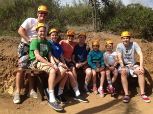 With the fam, zip lining in Mexico, last spring break.