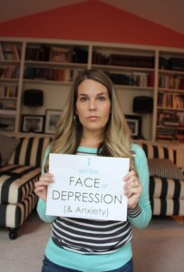 "I started the ""I am the FACE of Depression"" campaign to get people talking. It's okay to admit you struggle with depression. It doesn't define you."
