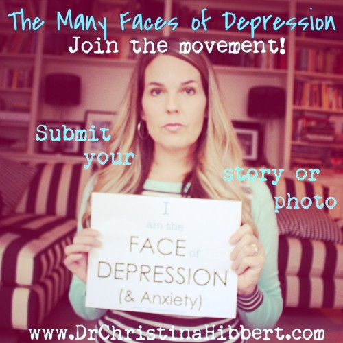 "Join ""The Many Faces of Depression"" Movement & Stop the Stigma! Submit Your Story/ Photo!"