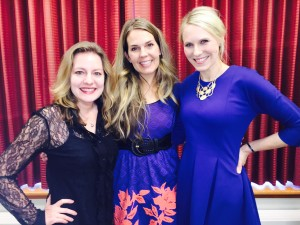 My friends, Elisa & Cheryl from 30SecondMom, at my launch party in Chicago!