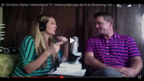 """Making Marriage Work by Resolving Conflict: 20 years of Solutions on our 20th Wedding Anniversary"" on #Motherhood #radio! www.DrChristinaHibbert.com"