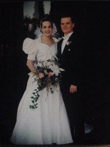 Another pic of our wedding day. We were so young!