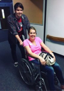 Going to my daughter's end-of-year presentation, pushed by my son, Tre, in a wheelchair. Even though it felt embarrassing, I asked for help and let it in. Yay, me!