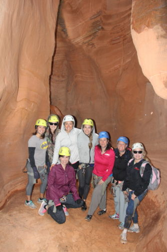 Our Zion Ponderosa canyoneering group, having a blast bonding through facing our fears!