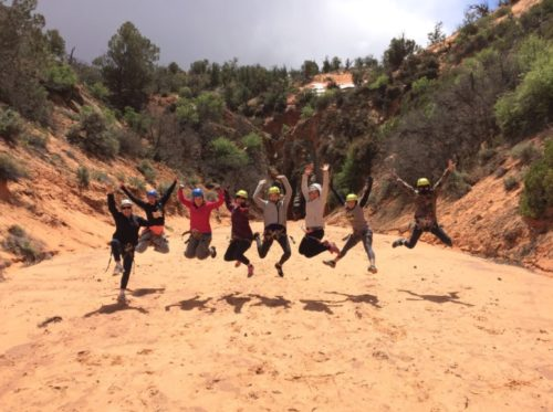 Success! Post-canyoneering trip pic with our fabulous group from Zion Ponderosa Retreat.