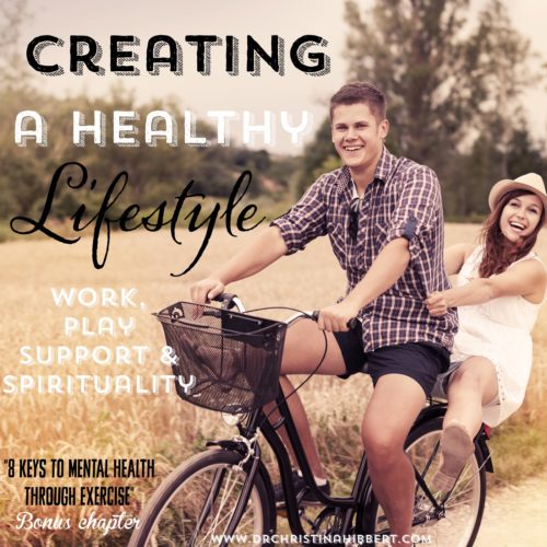 "Creating a Healthy #Lifestyle- #Exercise, #Work, #Play #Support #spirituality www.DrChristinaHibbert.com (Bonus Chapter from ""8 Keys to #MentalHealth Through Exercise!"")"