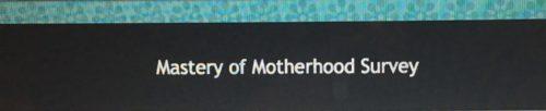 Mastery of Motherhood
