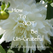 How to NOT be Un-Grateful: 10 Things for which I Am Not Ungrateful