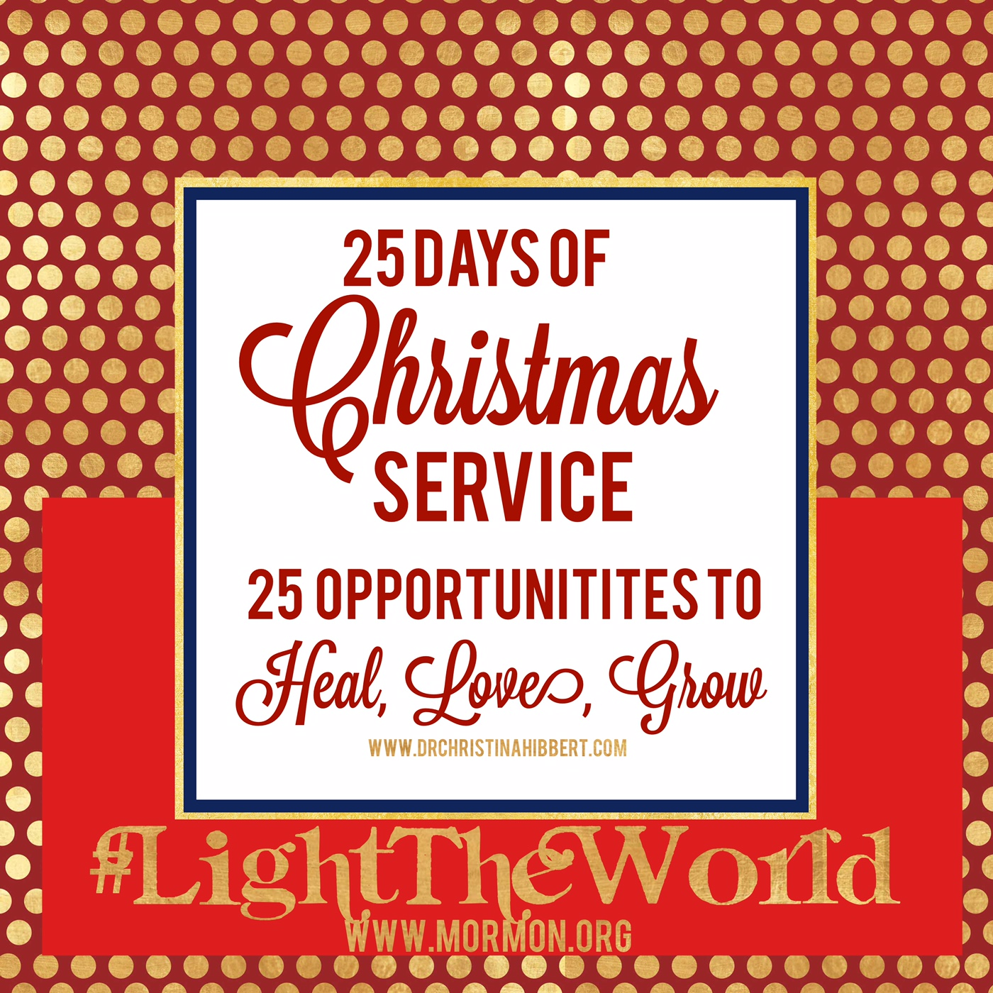 Lighttheworld 25 Days Of Christmas Service 25 Opportunities To